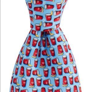 "Vineyard Vines Blue ""Flip Cup"" NeckTie"
